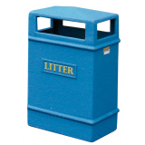 GFC Slimline Closed Top Litter Bin - 98 Litre Capacity