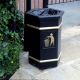 GFC Hexagonal Open Top Litter Bin - 84 Litre Capacity