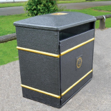 GFC Large Closed Top Litter Bin - 224 Litre Capacity