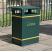GFC Slimline Closed Top Litter Bin - 98 Litre Capacity
