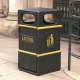 GFC Square Closed Top Litter Bin - 84 Litre Capacity