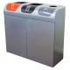 Lute Triple Internal Recycling Bin - 240 Litre