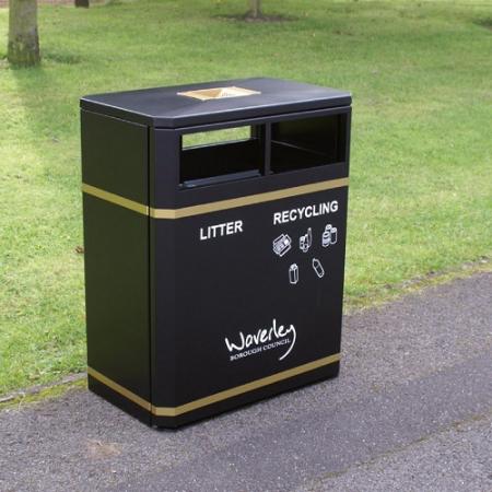 Middlesbrough Dual Litter & Recycling Bin - 160 Litre
