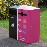 Middlesbrough Dual Litter & Recycling Bin - 224 Litre