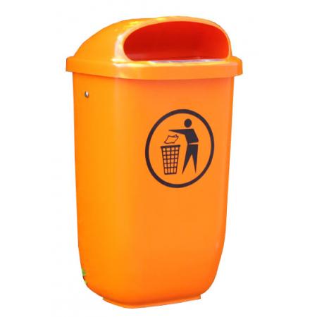 Polyethylene Post Mountable Litter Bin - 50 Litre