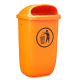 Polyethylene Post Mountable Litter Bin - 50 Litre