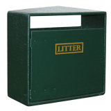 Double Never Rust Litter Bin - 224 Litre