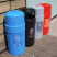 Circular Closed Top Recycling Bin - 84 Litre