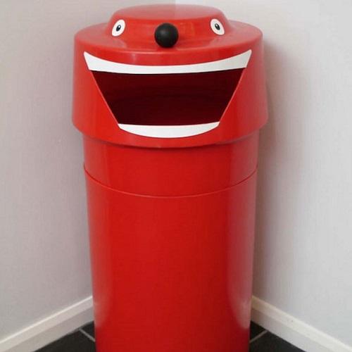 face litter bin - 90 litre capacity