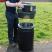 Hooded Top Recycling Bin - 84 Litre