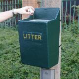 GFC Post Mountable Open Top Litter Bin - 22 Litre Capacity