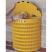 Semi-Circular Metal Open Top Litter Bin - 28 Litre Capacity