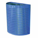 Semi-Circular Metal Open Top Litter Bin - 28 Litre Capacity