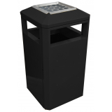 Middlesbrough Steel Litter Bin - 112 Litre