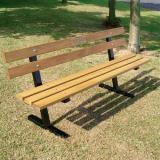 Iroko Hardwood Slatted Seat
