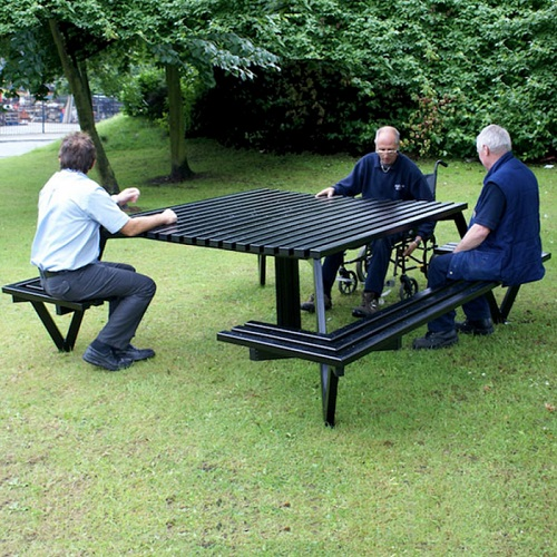 Steel Wheelchair Accessible Picnic Table Buy Online From