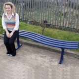 Wave Style Bench