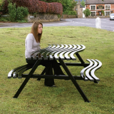 Wave Style Picnic Table