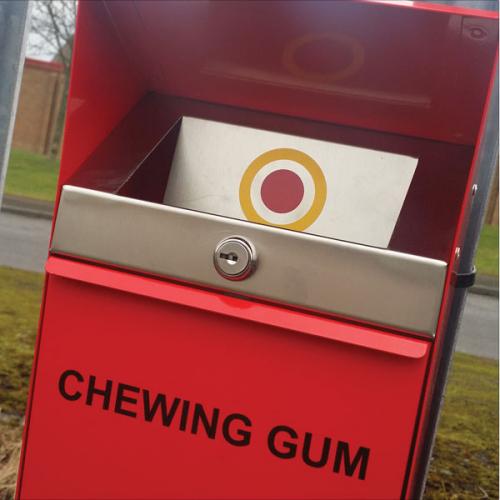 Wheelie Bin Cleaning >> Bulls Eye Chewing Gum Disposal Bin - Buy online from Bin Shop