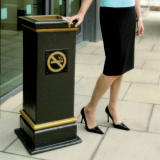 GFC Square Cigarette End Pedestal Bin