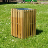 Square Slatted Open Top Litter Bin - 112 Litre Capacity