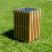 Square Slatted Open Top Litter Bin - 112 Litre Capacity