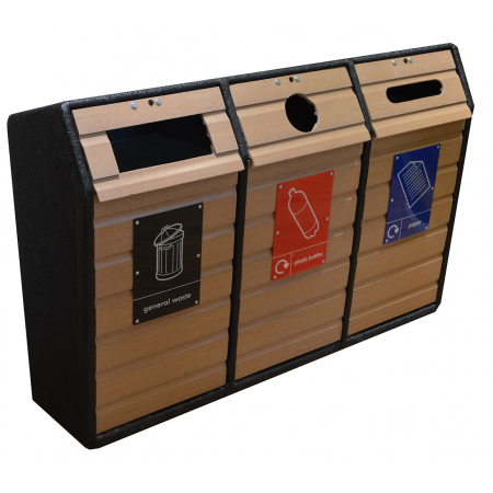 Timber Fronted Triple Recycling Unit