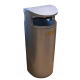 Torpedo Single on Street Litter Bin - 70 Litre