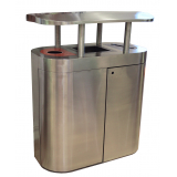 Torpedo Triple External Recycling Bin with Orbit Hood - 270 Litre