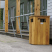 Iroko Hardwood Litter Bin - 98 Litre Capacity