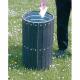 Circular Plastic Slatted Open Top Litter Bin - 56 Litre Capacity